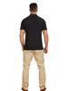 Raging Bull Big & Tall Crest Pique Polo - Black