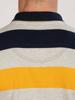 Raging Bull Big & Tall Irregular Stripe Jersey Polo - Navy