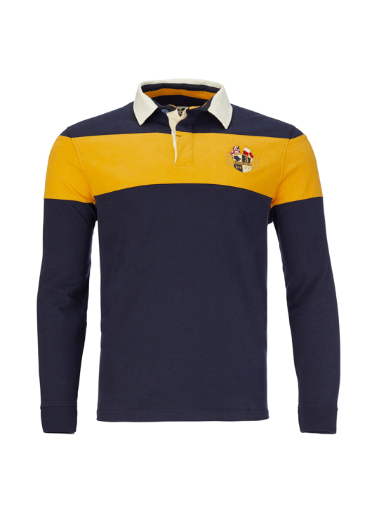 Raging Bull - Big & Tall Long Sleeve Cut & Sew Rugby - Navy