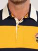 Raging Bull Big & Tall Long Sleeve Cut & Sew Rugby - Navy