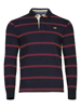 Raging Bull Big & Tall Long Sleeve Stripe Rugby - Claret