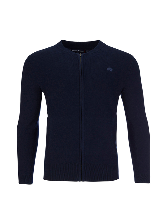 Raging Bull - Big & Tall Zip Thru Cardigan - Navy