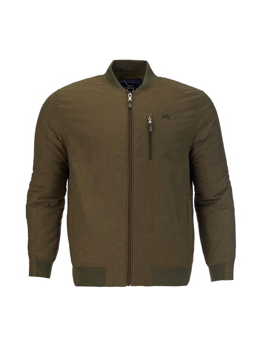 Raging Bull - Big & Tall Bomber Jacket - Khaki