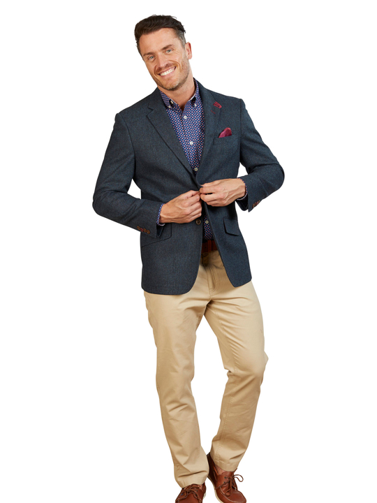 Raging Bull - Big & Tall Wool Blazer - Navy