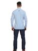 Raging Bull Big & Tall Long Sleeve Bengal Stripe Poplin Shirt - Mid Blue