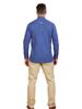 Raging Bull Big & Tall Long Sleeve Polka Dot Print Shirt - Mid Blue