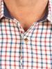 Raging Bull Long Sleeve Tattersall Check Shirt - Cream