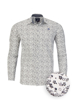 Raging Bull Long Sleeve Floral Print Poplin Shirt - White