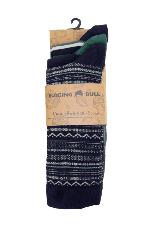 Raging Bull - 3 Pk Cotton Mix Socks - Forest