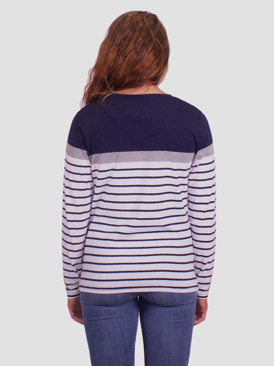 Raging Bull - Long Sleeve Jersey Stripe Top - White