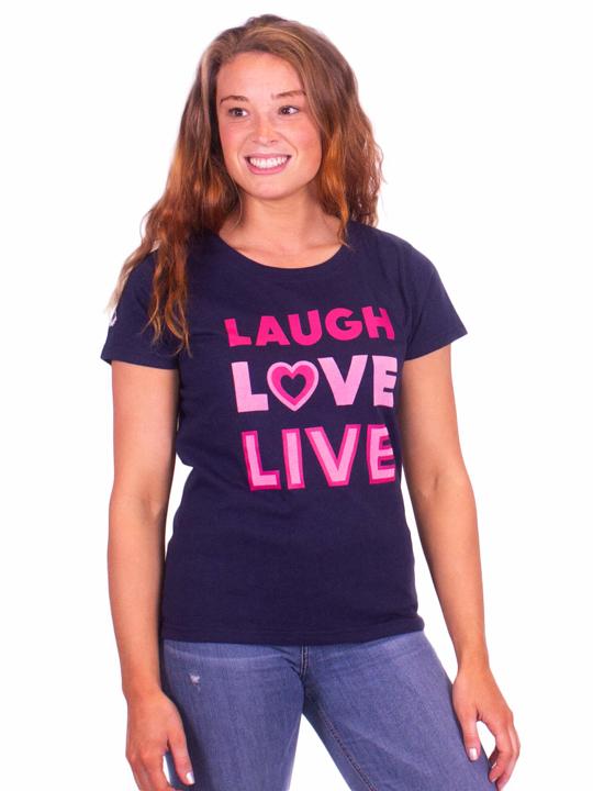 Raging Bull Laugh Love Live Tee - Navy