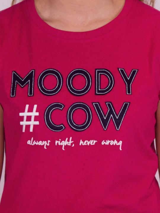 Raging Bull - Hashtag Moody Cow T-Shirt - Berry