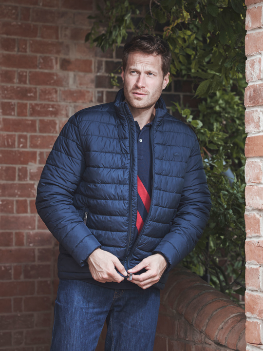 Raging Bull - Lightweight Puffer Jacket - Navy
