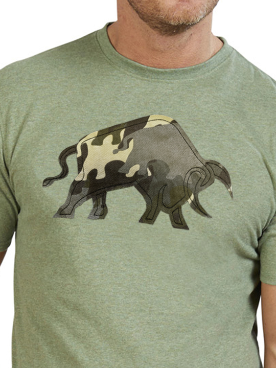Raging Bull - Camo Bull T-Shirt - Green
