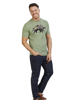 Raging Bull Big & Tall Camo Bull T-Shirt - Green