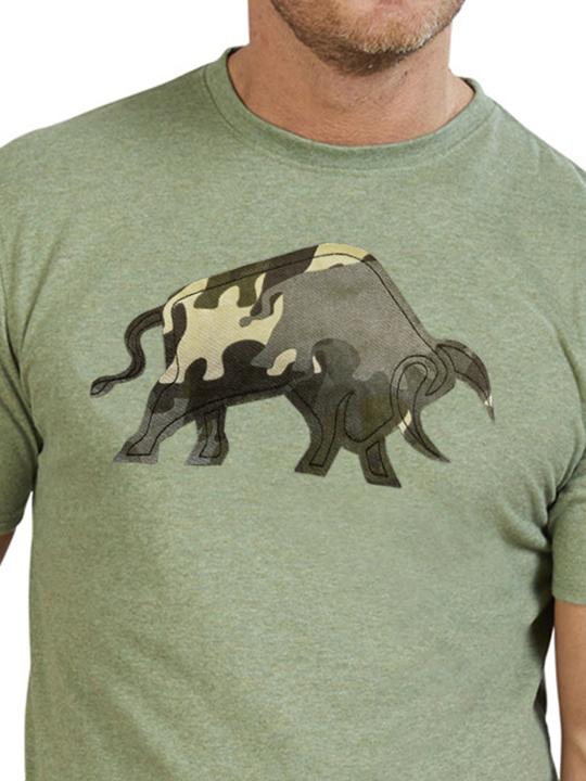 Raging Bull - Big & Tall Camo Bull T-Shirt - Green