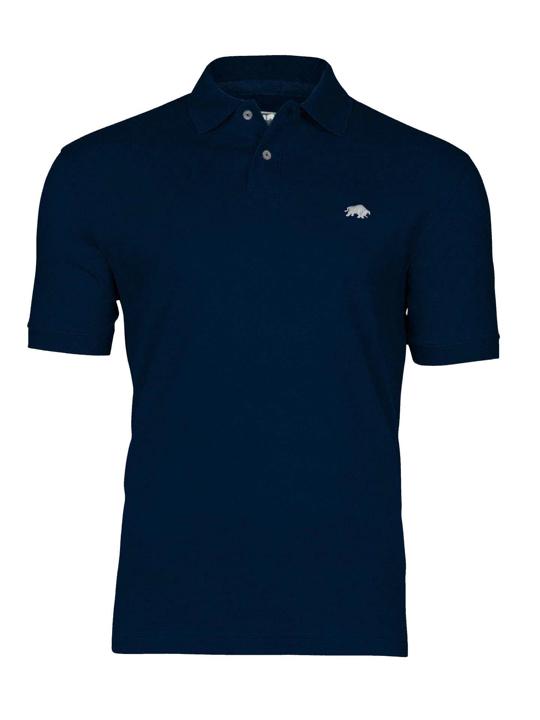 high quality navy polo shirt