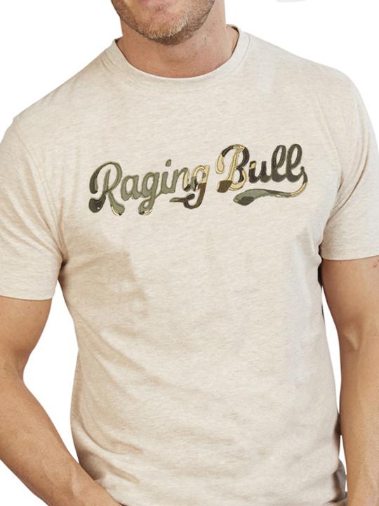 Raging Bull - Big & Tall Script T-Shirt - Biscuit