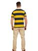 Raging Bull Short Sleeve Block Stripe Rugby - Navy