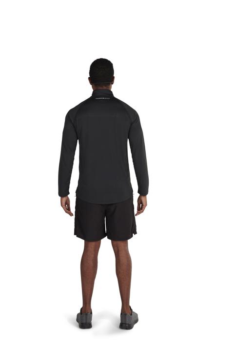 Raging Bull - Big & Tall Performance Long Sleeve Quarter Zip - Black