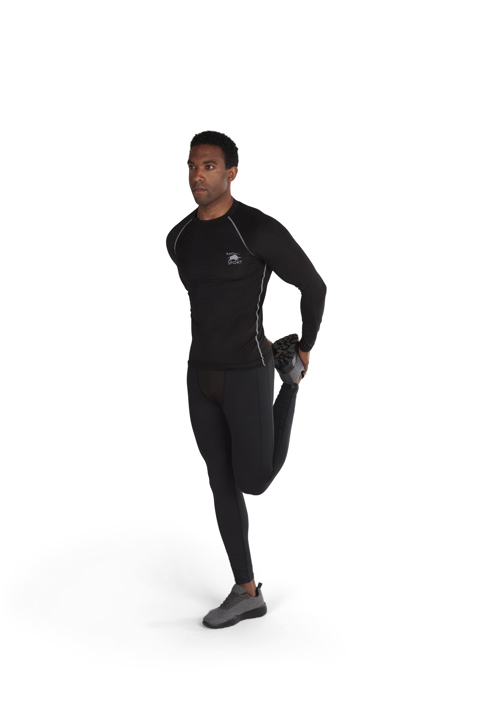 model wearing high quality compression legging