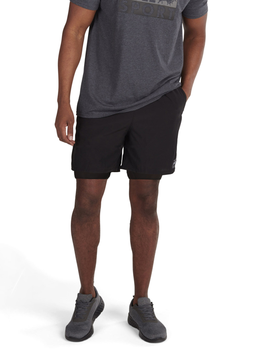 model wearing high quality 2 in 1 short