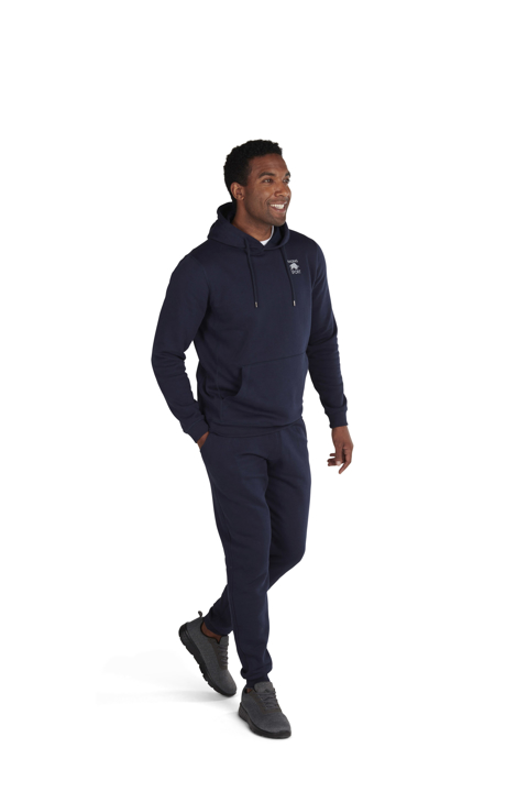 high quality casual navy joggers