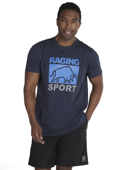 high quality graphic navy t-shirt