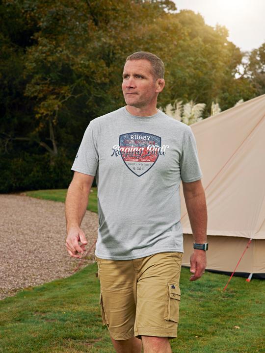 high quality grey marl graphic t-shirt