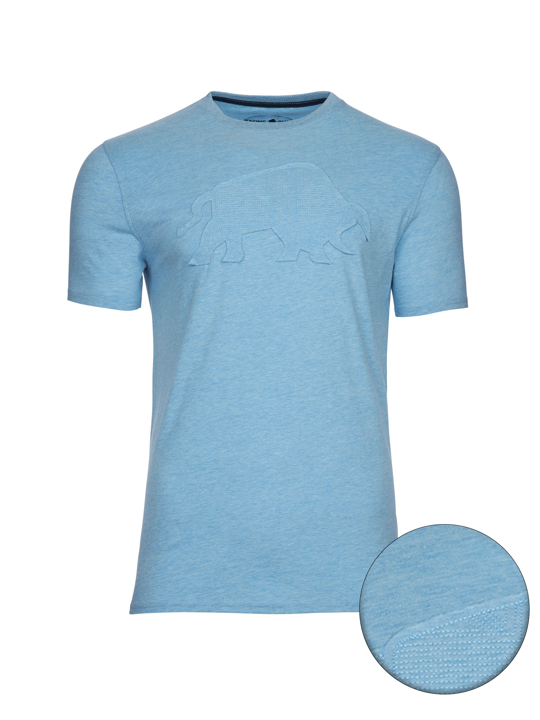 high quality embroidered sky blue t-shirt