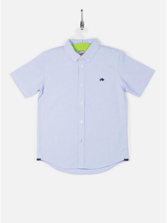 Raging Bull - Kids Short Sleeve Oxford Shirt - Sky Blue