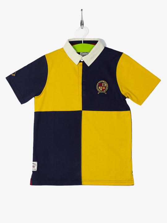 Raging Bull - Short Sleeve Harlequin Rugby - Yellow