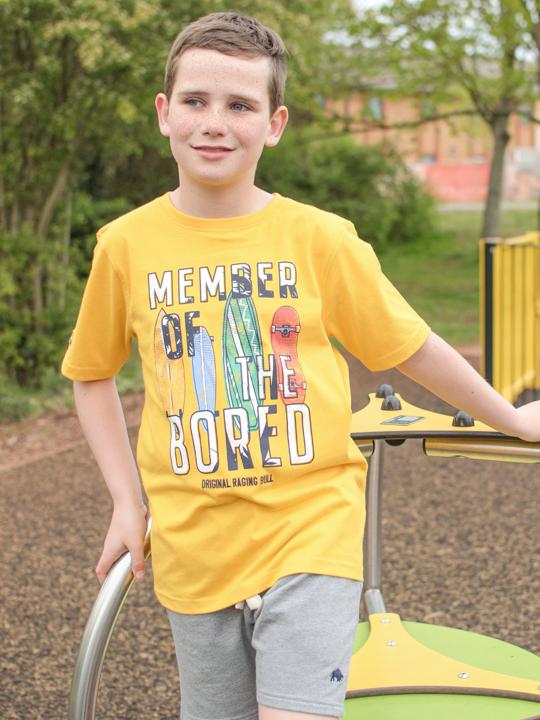Raging Bull - Bored Member T-Shirt - Yellow