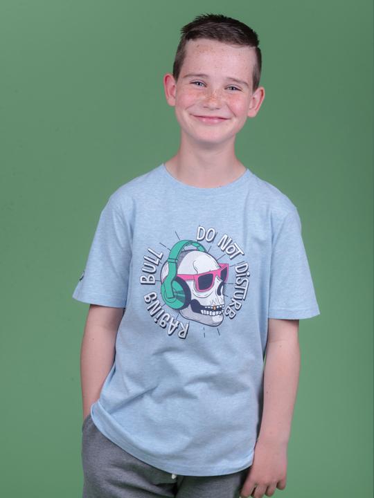 Raging Bull - Skull T-Shirt - Sky Blue