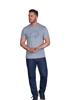 Raging Bull Big & Tall Scatter Stitch T-Shirt - Grey Marl