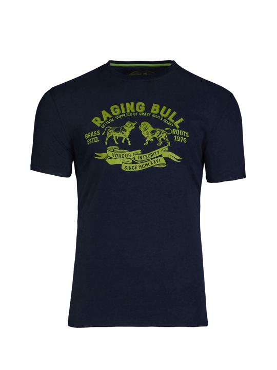 Raging Bull - Grass Roots T-Shirt - Navy