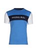 high quality cut and sew blue t-shirt