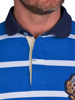 Raging Bull Big & Tall Long Sleeve Fine Stripe Rugby - Cobalt