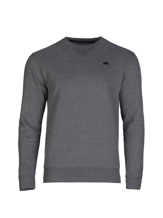 high quality dark grey crew neck sweatshirt