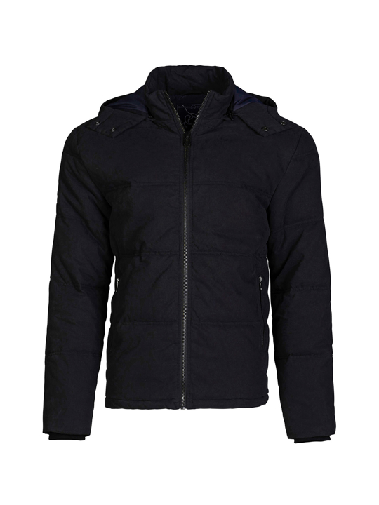 high quality black hooded puffer jacket