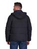 Raging Bull Hooded Puffer Jacket - Black