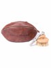 Raging Bull Rugby Leather Wash Bag - Brown