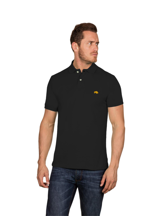 Raging Bull - Slim Fit Plain Polo - Black