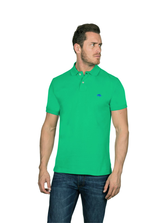 Raging Bull - Slim Fit Plain Polo - Green