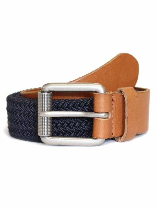 Raging Bull - Braided Belt - Navy