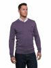 Raging Bull Big & Tall - V-Neck Cotton/Cashmere Sweater - Purple