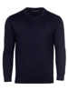 Raging Bull V-Neck Cotton/Cashmere Sweater - Navy