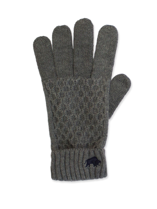 Raging Bull - Cable Knit Gloves - Charcoal