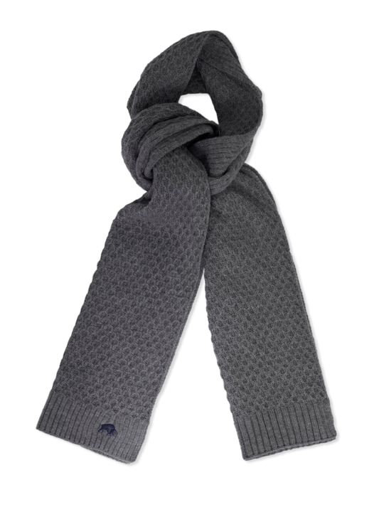 Raging Bull - Cable Knit Scarf - Charcoal