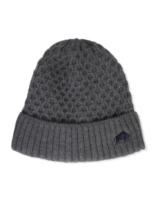 Raging Bull Cable Knit Beanie - Charcoal